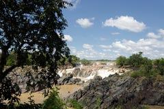 Las caídas del Mekong Imagen de archivo libre de regalías