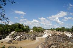 Las caídas del Mekong imagenes de archivo