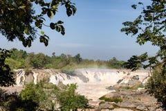 Las caídas del Mekong Foto de archivo