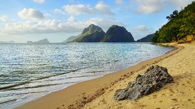 Las Cabanas beach. El Nido, Philippines Royalty Free Stock Photo