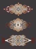 Las cabeceras decorativas fijaron Imagen de archivo libre de regalías