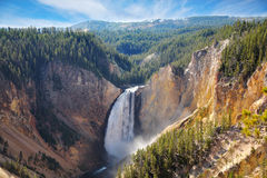Las caídas bien conocidas de la montaña Fotografía de archivo
