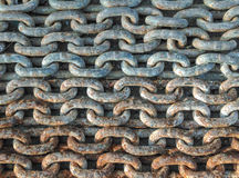 Las cadenas galvanizan Fotos de archivo libres de regalías