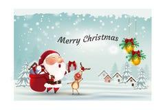 Las cajas de regalo ennegrecen el vector de la promoción de viernes, fondo negro de la Navidad con la Feliz Año Nuevo del árbol d imagen de archivo libre de regalías