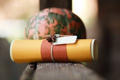 Las calabazas cosechadas wedding adornan Fotografía de archivo libre de regalías