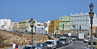 Las calles de Cádiz, España Fotos de archivo libres de regalías