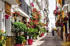 Las Calles de estepona royalty free stock photography