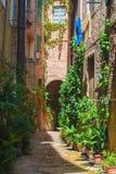 Las calles de la ciudad italiana vieja de Siena en Toscana Fotografía de archivo