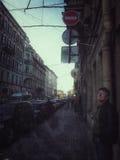 Las calles de St Petersburg Foto de archivo libre de regalías