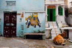 Las calles del udaipur imagen de archivo libre de regalías