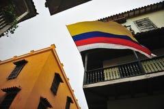 Las calles en Cartagena de Indias Fotos de archivo libres de regalías