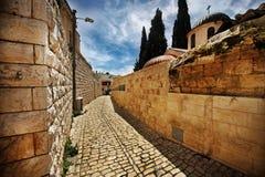 Las calles estrechas de la ciudad vieja Fotografía de archivo libre de regalías
