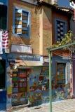 Las calles y los canales coloridos de Burano, Venecia Imágenes de archivo libres de regalías
