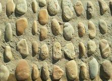 Las calzadas materiales de piedra Foto de archivo