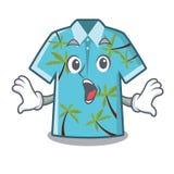 Las camisas hawaianas sorprendidas doblaron en armario de la historieta stock de ilustración