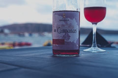 Las Campanas Labeled Bottle Stock Photography