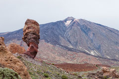 Las Canadas del Teide volcano and Garcia Roques, Tenerife, Spain Royalty Free Stock Photography