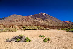 Las Canadas National park with mount Teide Royalty Free Stock Image
