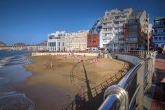 Las Canteras Strand, Las Palmas de GC, Spanien Stockfotos