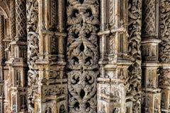 Las capillas inacabadas del monasterio de Batalha Imagen de archivo