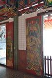 Las características de la gente menshen el dibujo de madera de la escultura Imagen de archivo