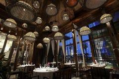 Las características del estilo de Asia del Sur renovaron el restaurante Fotos de archivo libres de regalías