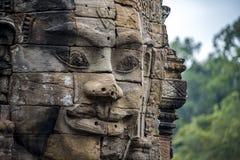 Las caras magníficas Bayon Fotografía de archivo libre de regalías