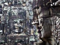 Las caras sonrientes de Angkor Thom Imágenes de archivo libres de regalías