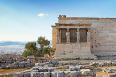 Las cariátides de Erechtheion, Grecia Foto de archivo libre de regalías