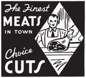 Las carnes más finas de la ciudad 2 stock de ilustración