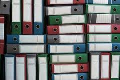 Las carpetas archivan, Ring Binders, burocracia Imagen de archivo libre de regalías