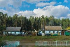 Las casas acercan a la estación Imagen de archivo