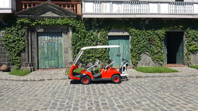 Las Casas, Bataan, Philippines. Vintage doors and golf carts and vines Royalty Free Stock Images