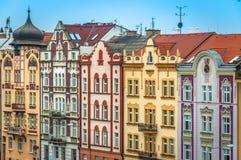 Las casas coloridas de Pilsen Imágenes de archivo libres de regalías
