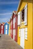Las casas de los pescadores en Smögen, Suecia Foto de archivo libre de regalías
