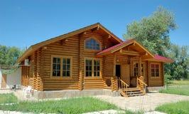 Las casas de madera Imagen de archivo