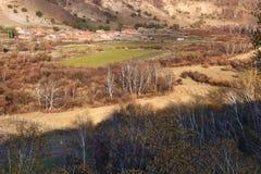 Las casas de vivienda del prado en el prado de Inner Mongolia Fotografía de archivo libre de regalías