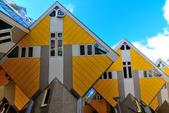 Las casas del cubo en Rotterdam, Netherland Imagen de archivo