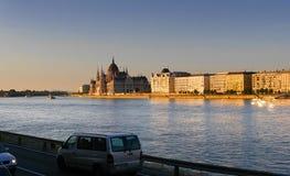 Las casas del parlamento en Budapest Hungría Imágenes de archivo libres de regalías