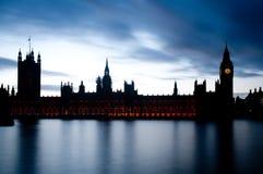 Las casas del parlamento en Westminster Fotos de archivo
