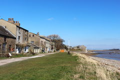 Las casas en Sunderland señalan por el estuario de Lune del río Fotografía de archivo libre de regalías