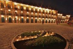 Las Casas Filipinas de Acuzar - Plaza Belmonta Royalty Free Stock Image