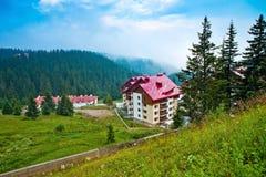 Las casas y los hoteles en Bulgaria Imagenes de archivo