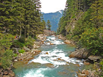 Las cascadas del krimmler en Austria Imagen de archivo libre de regalías