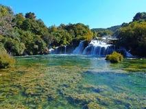 Las cascadas del parque nacional de Krka foto de archivo