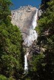 Las cataratas de Yosemite superiores y más bajas fotografía de archivo libre de regalías