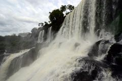 Las cataratas del Iguazú Imagen de archivo libre de regalías