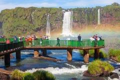 Las cataratas del Iguazú fotografía de archivo libre de regalías