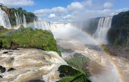 Las cataratas del Iguazú, el Brasil, la Argentina fotografía de archivo libre de regalías