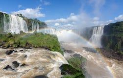 Las cataratas del Iguazú, el Brasil, la Argentina imagen de archivo